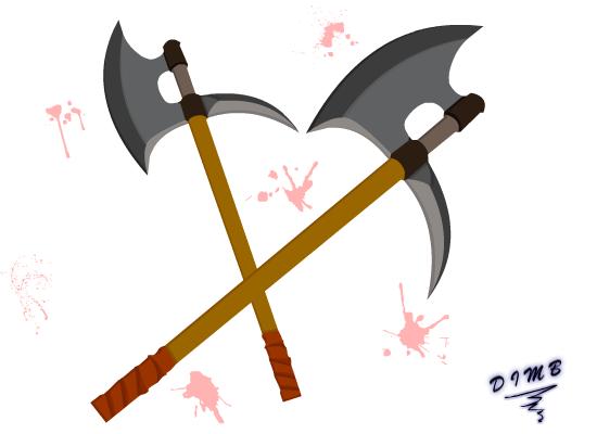 Guardian Axe in Blood