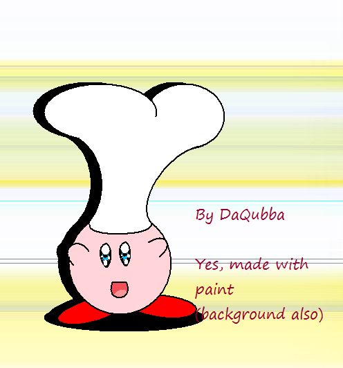 Kirby as cook