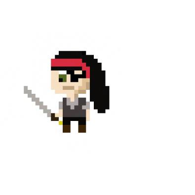 Pixel art practice: Sword Lady