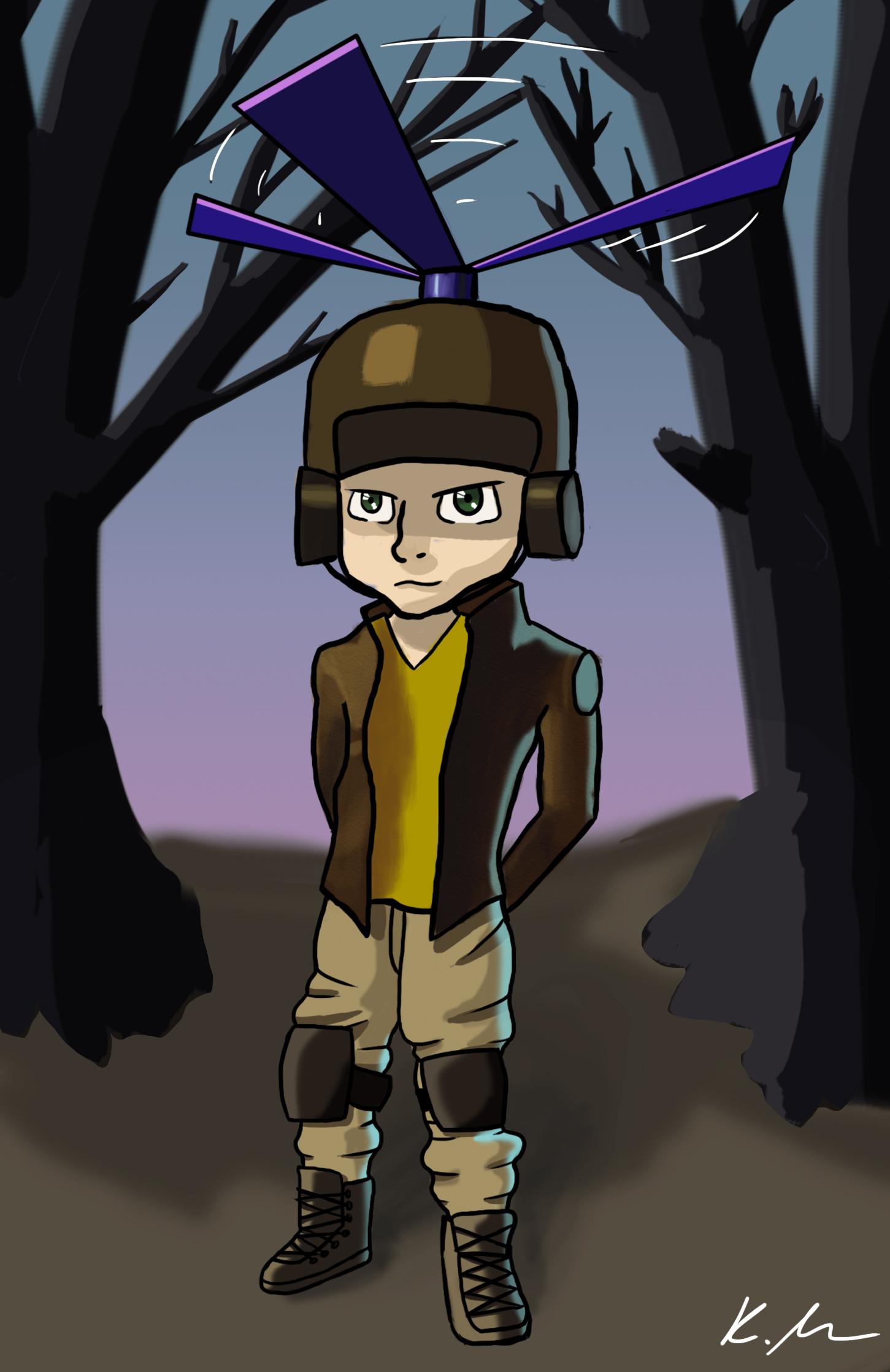 Pilot Helmet Boy