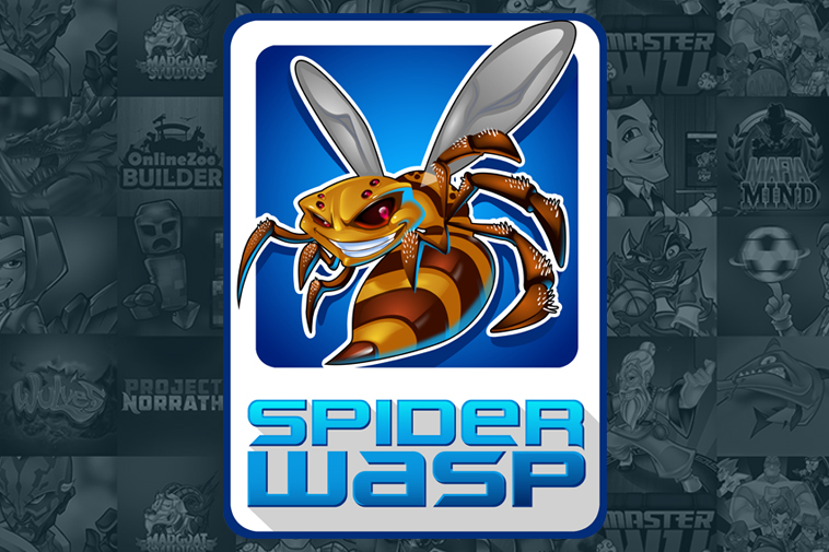 Spider Wasp Logo Design