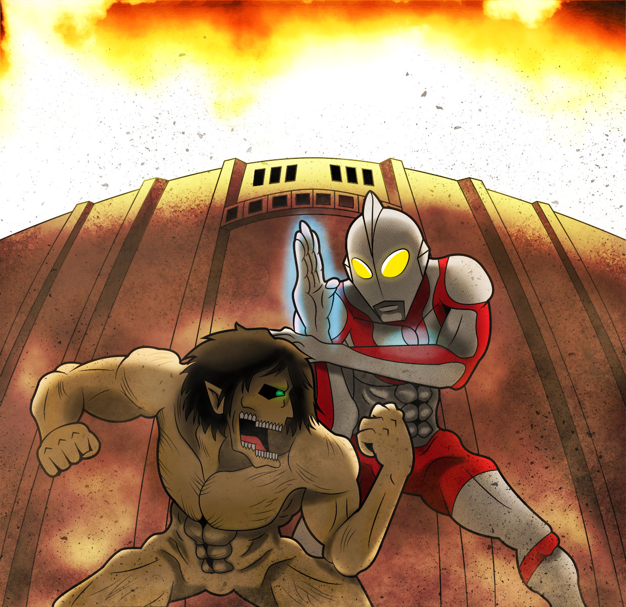 Ultraman vs Titan
