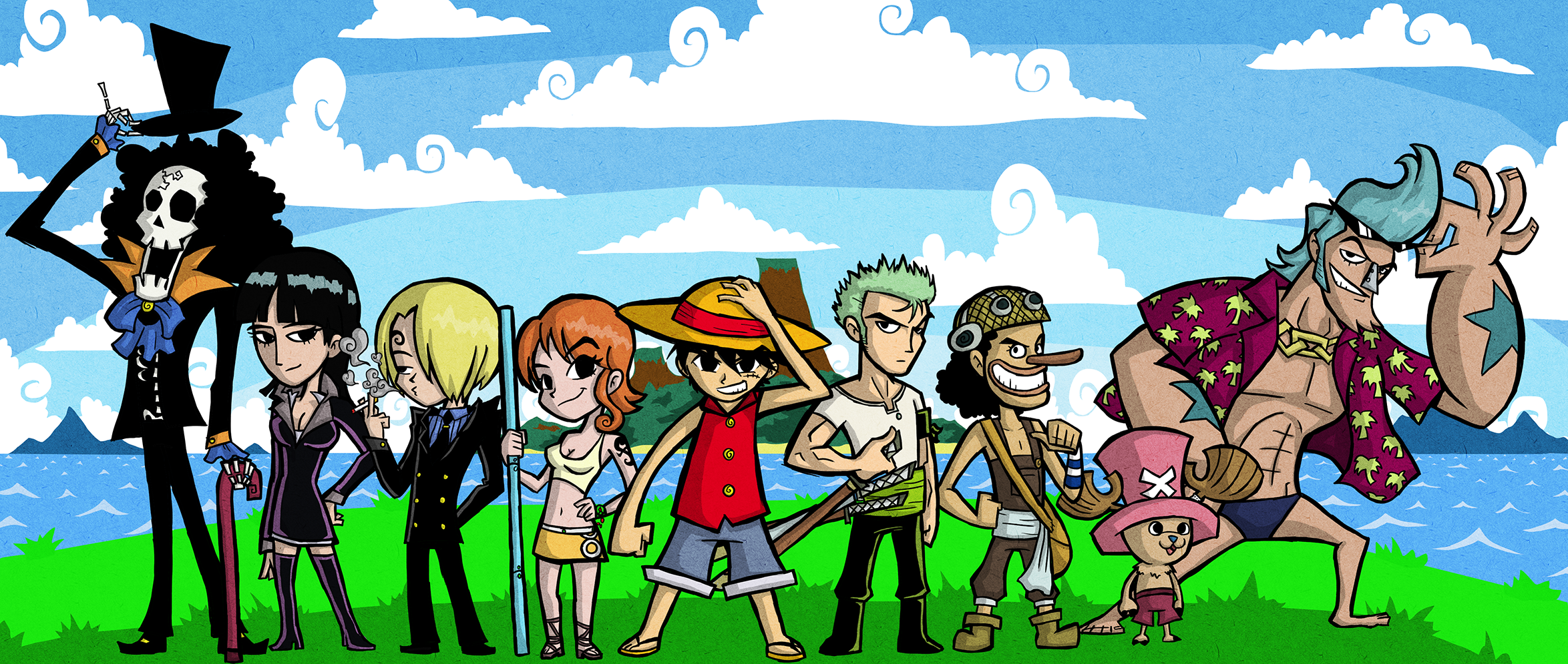 WW Style Straw Hat Pirates