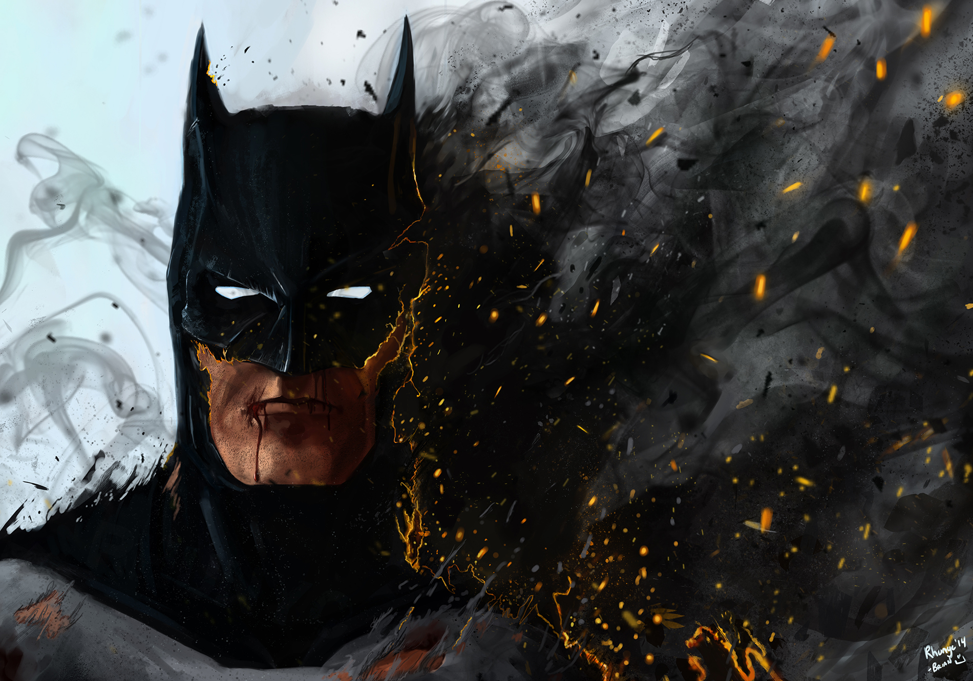 Batman... On Fire