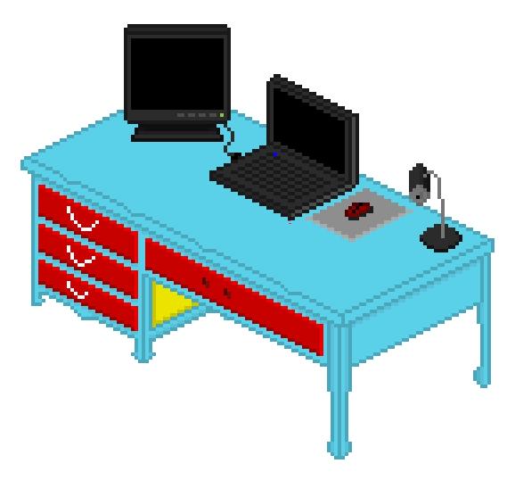 My isometric desk