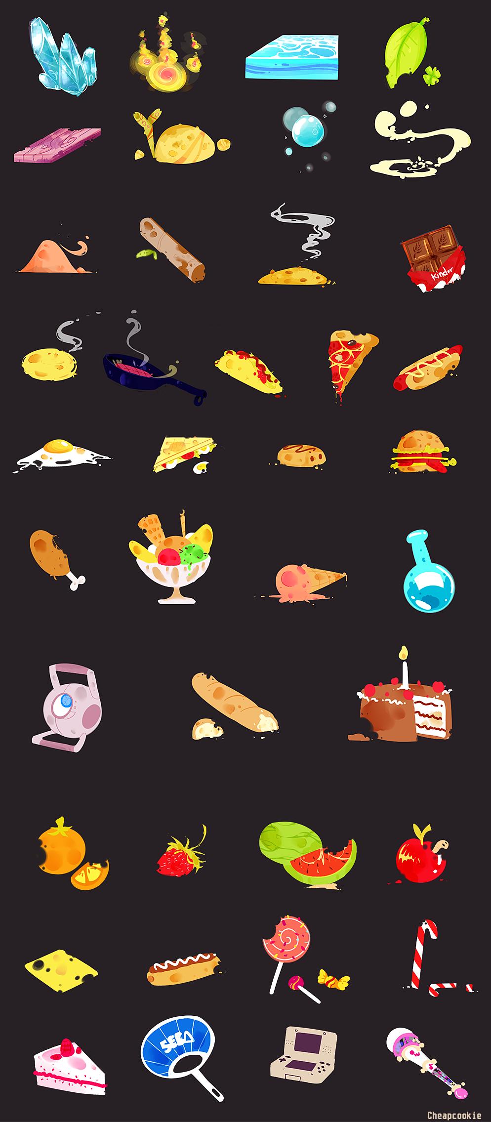 Elements and food food fooood