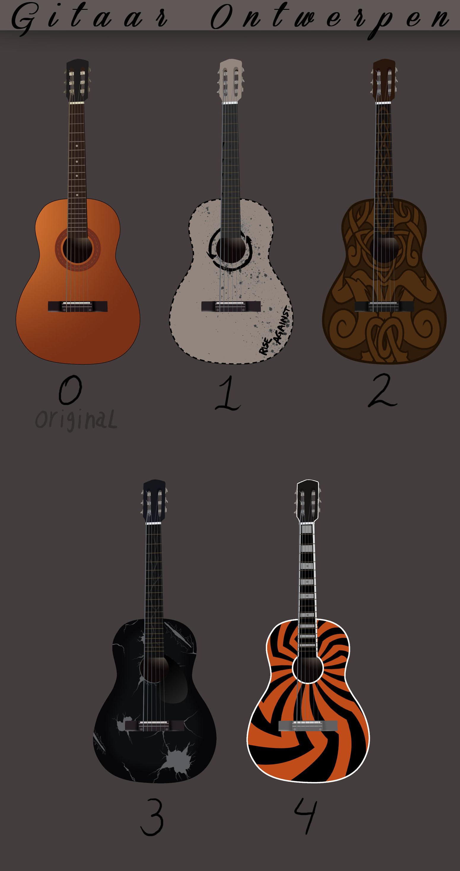 Help Me? guitar designs