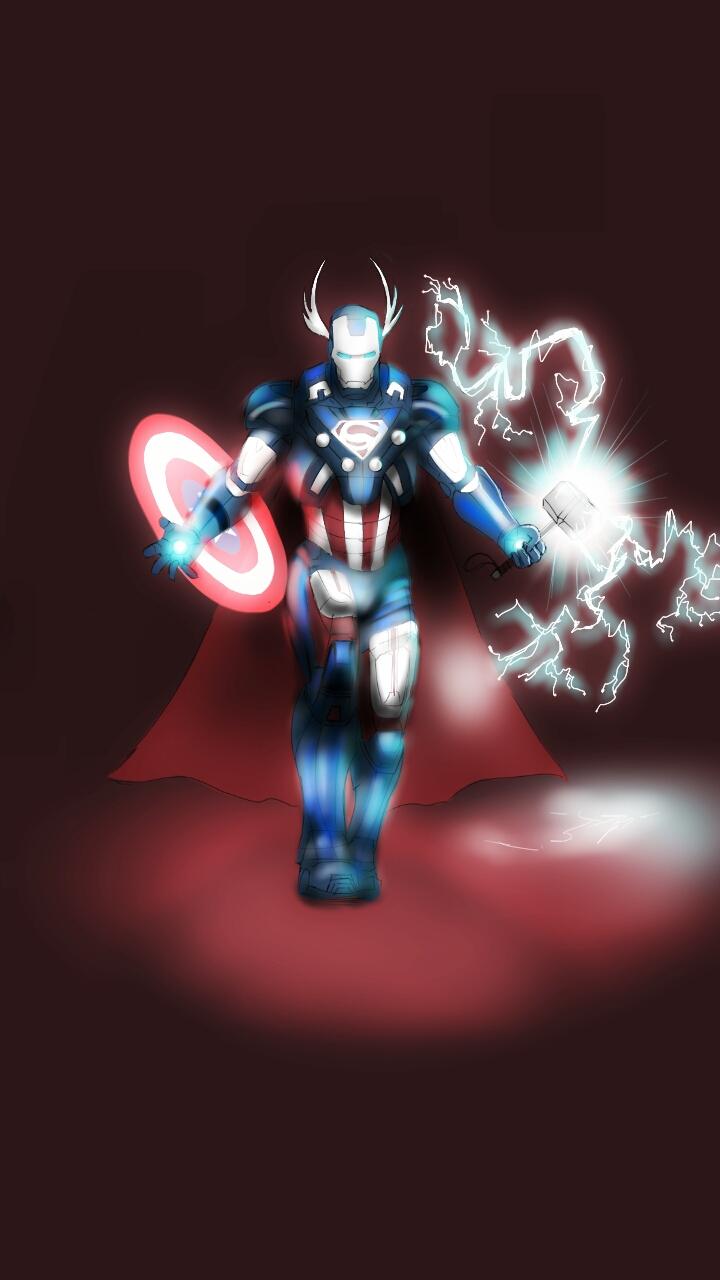Superhero mashup