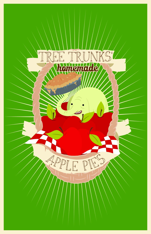 Tree Trunks' Apple Pies