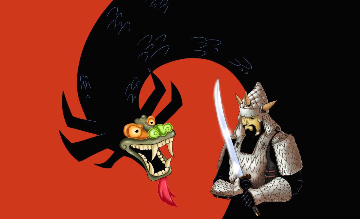Aku and Samurai Jack