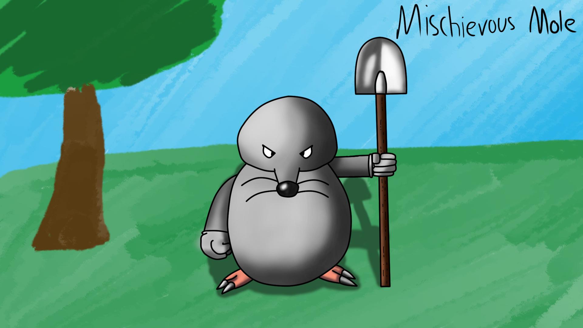 Mischievous Mole!