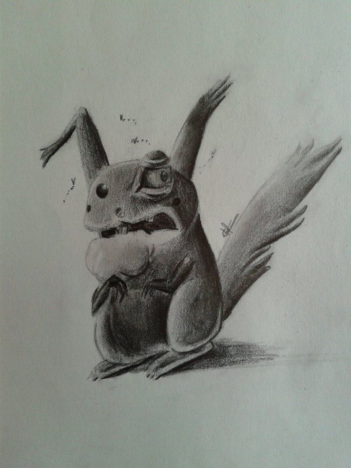 Rabid Pokemon Pikachu
