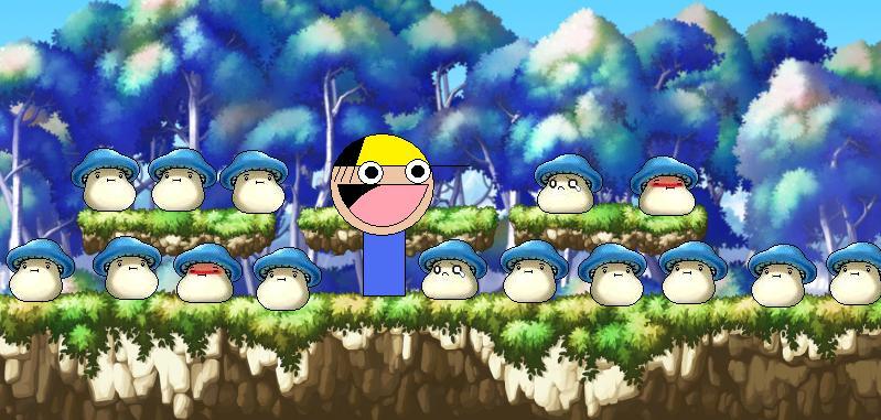 Blue Mushroom Forrest