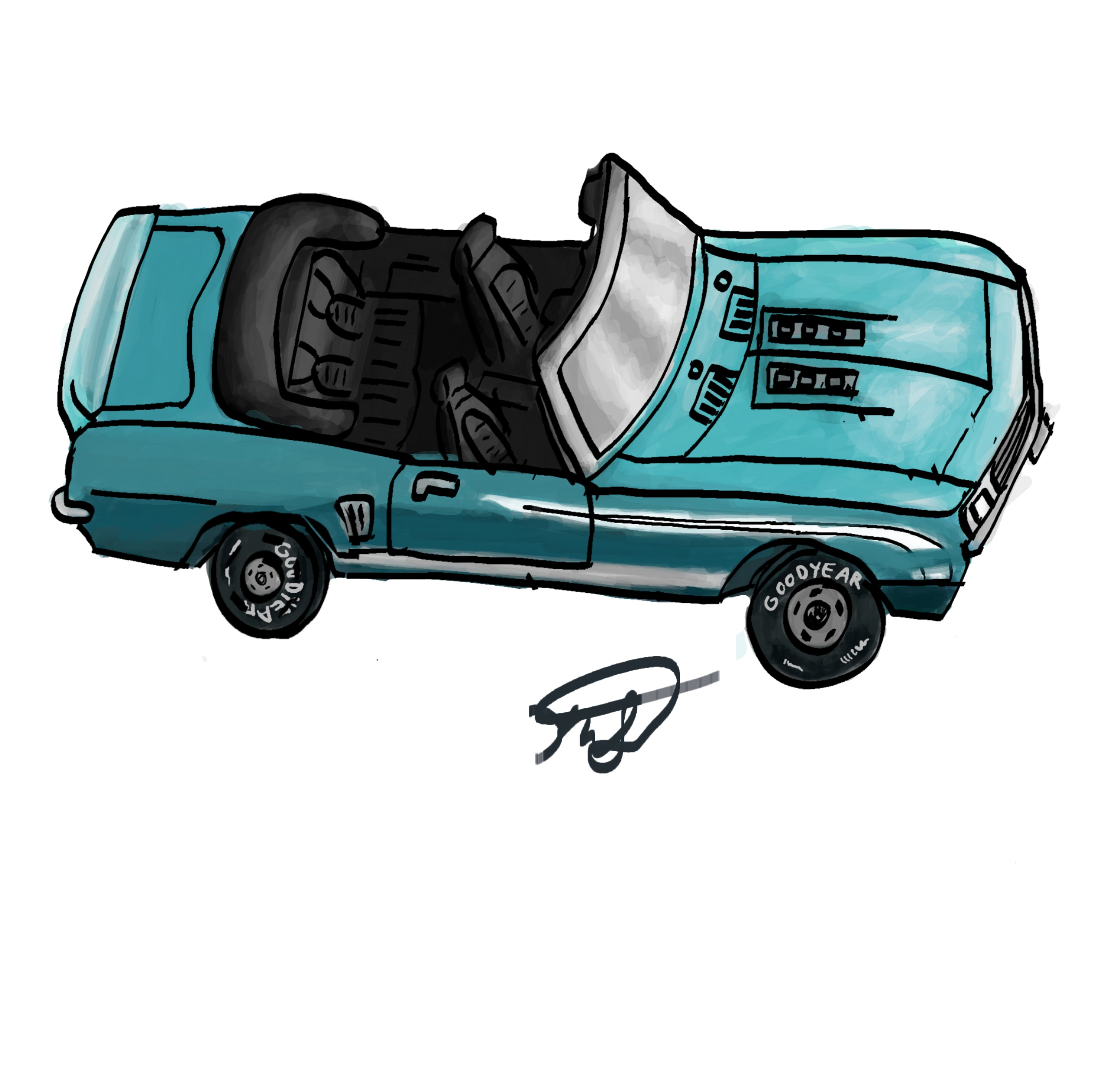 Car, My 1st Realistic Drawing