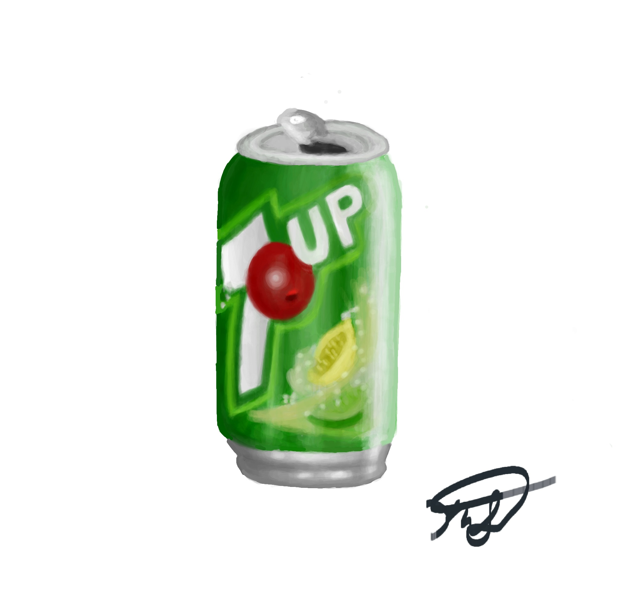 7Up Can Digital Painting