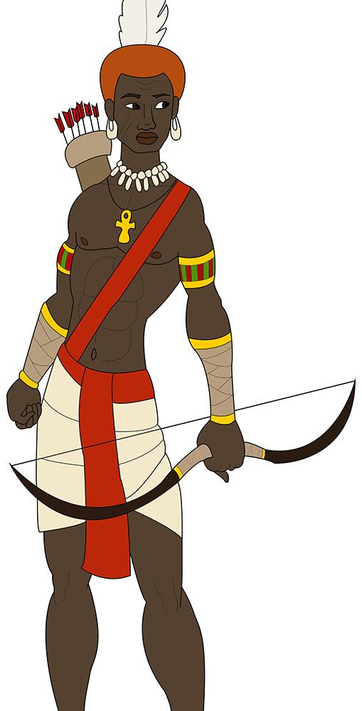 Nubian Archer from Illustrator