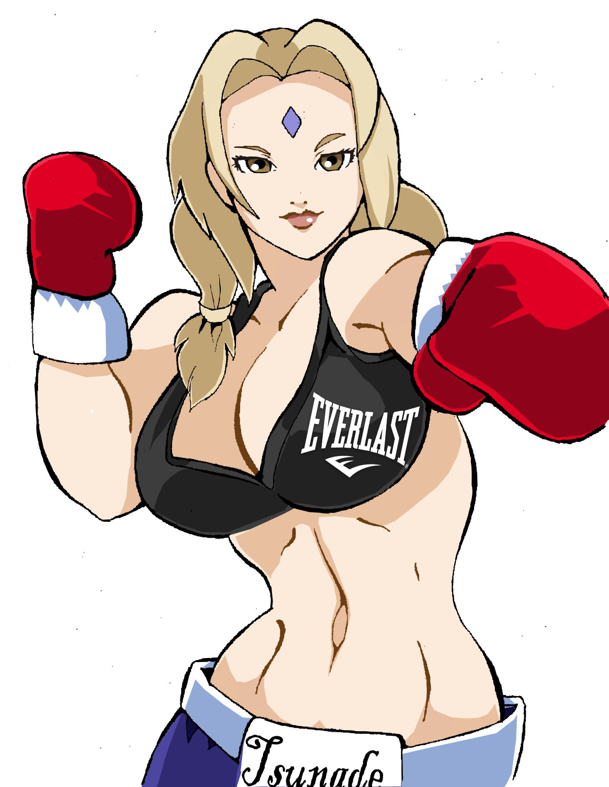 Tsunade Boxing (Fan Art)