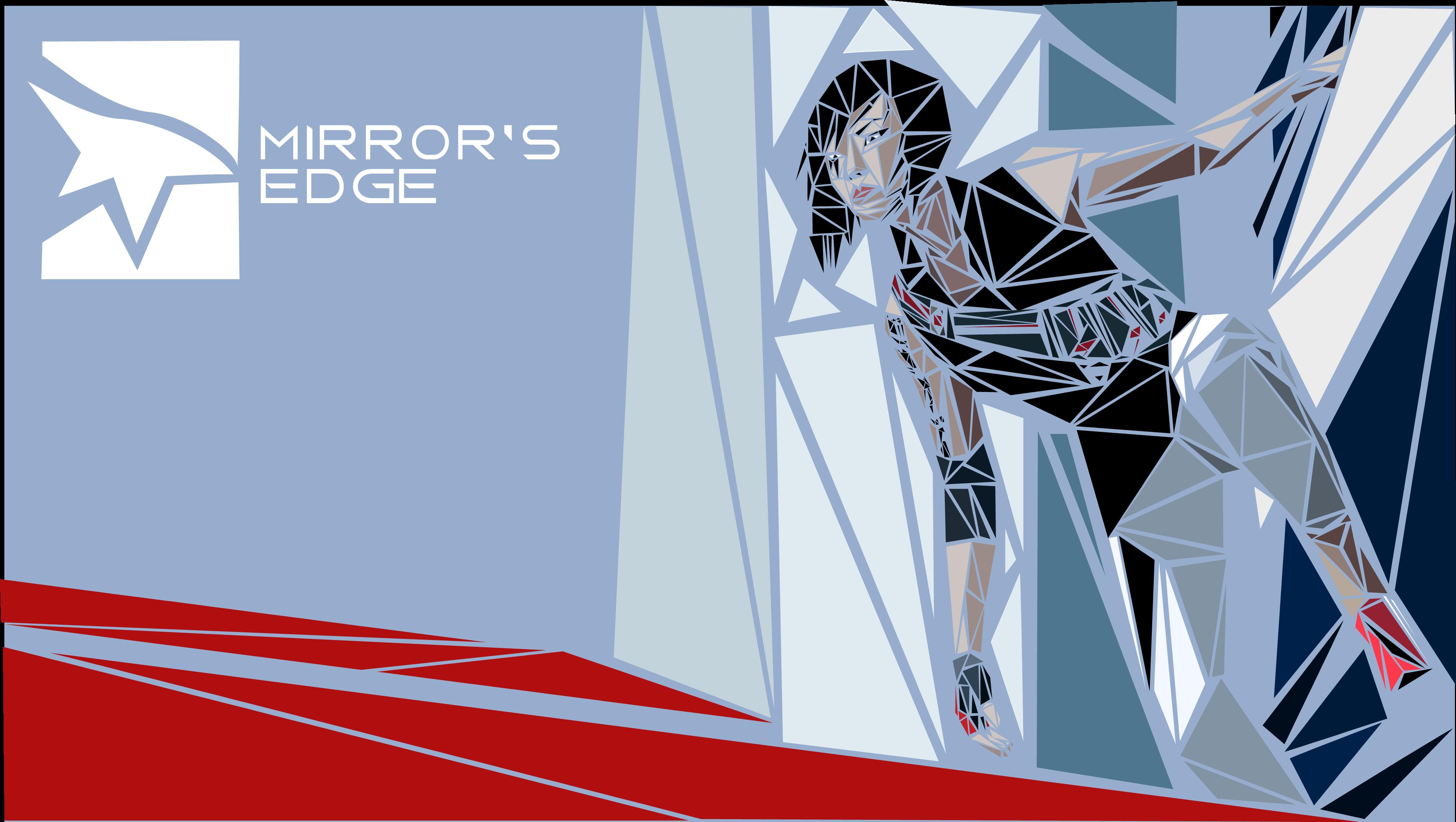 Mirror's Edge Mosaic Wallpaper