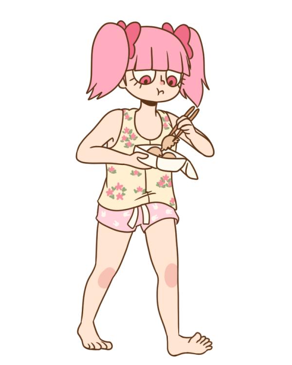 Rosemary eating Dumplings