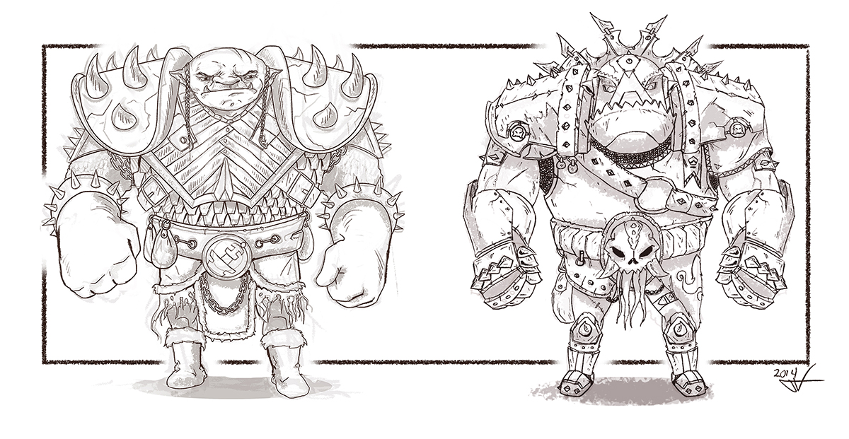 Orc medium & heavy armor