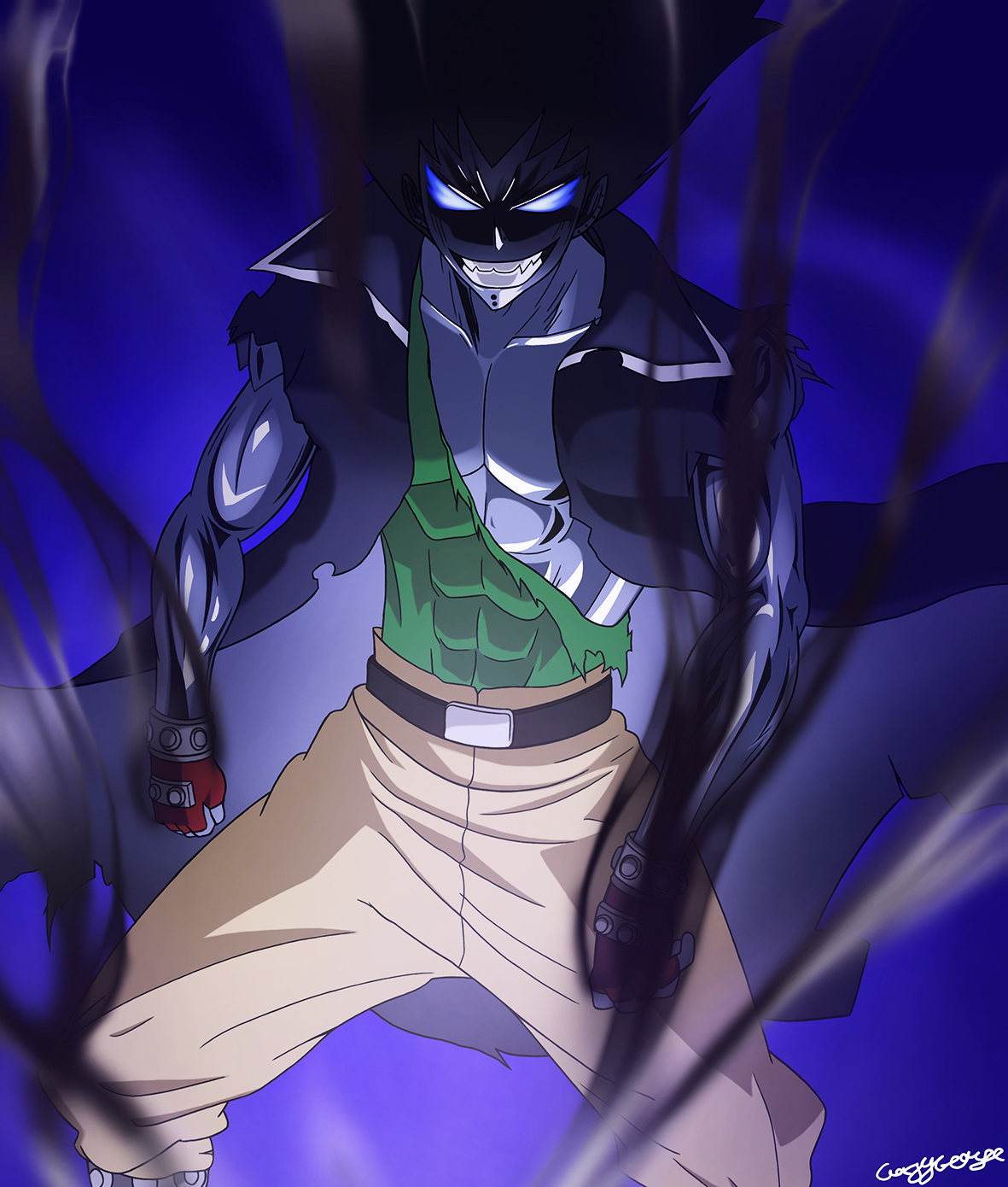 fairy tail gajeel iron shadow dragonGajeel Shadow Iron Dragon