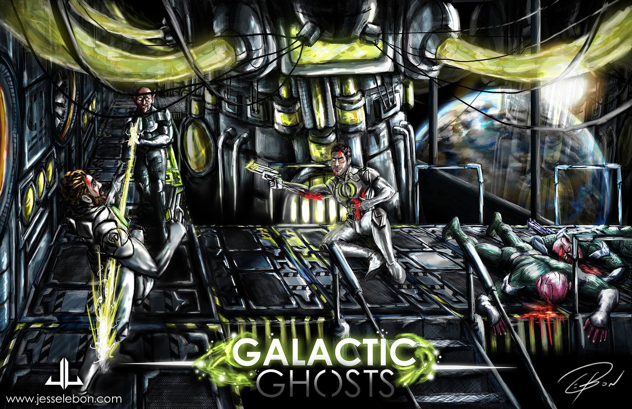 Galactic Ghosts: Battle scene