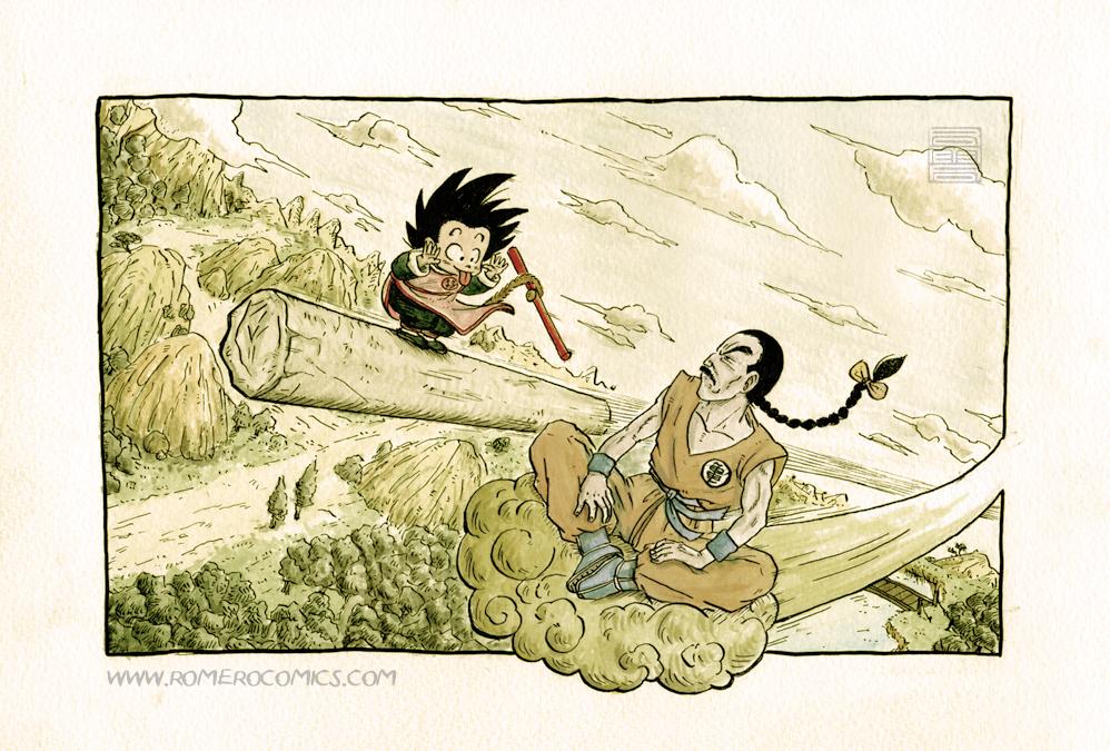 Tao Pai Pai vs Son Goku