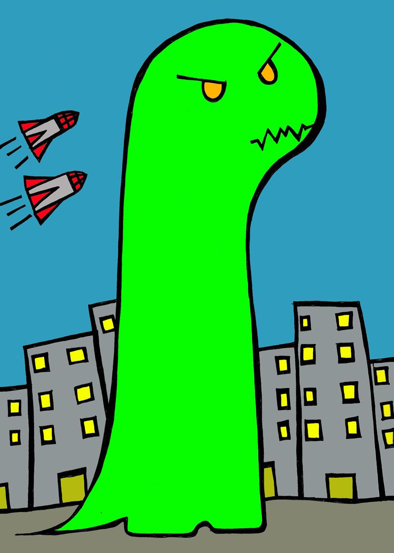 Godzilla goes to the city