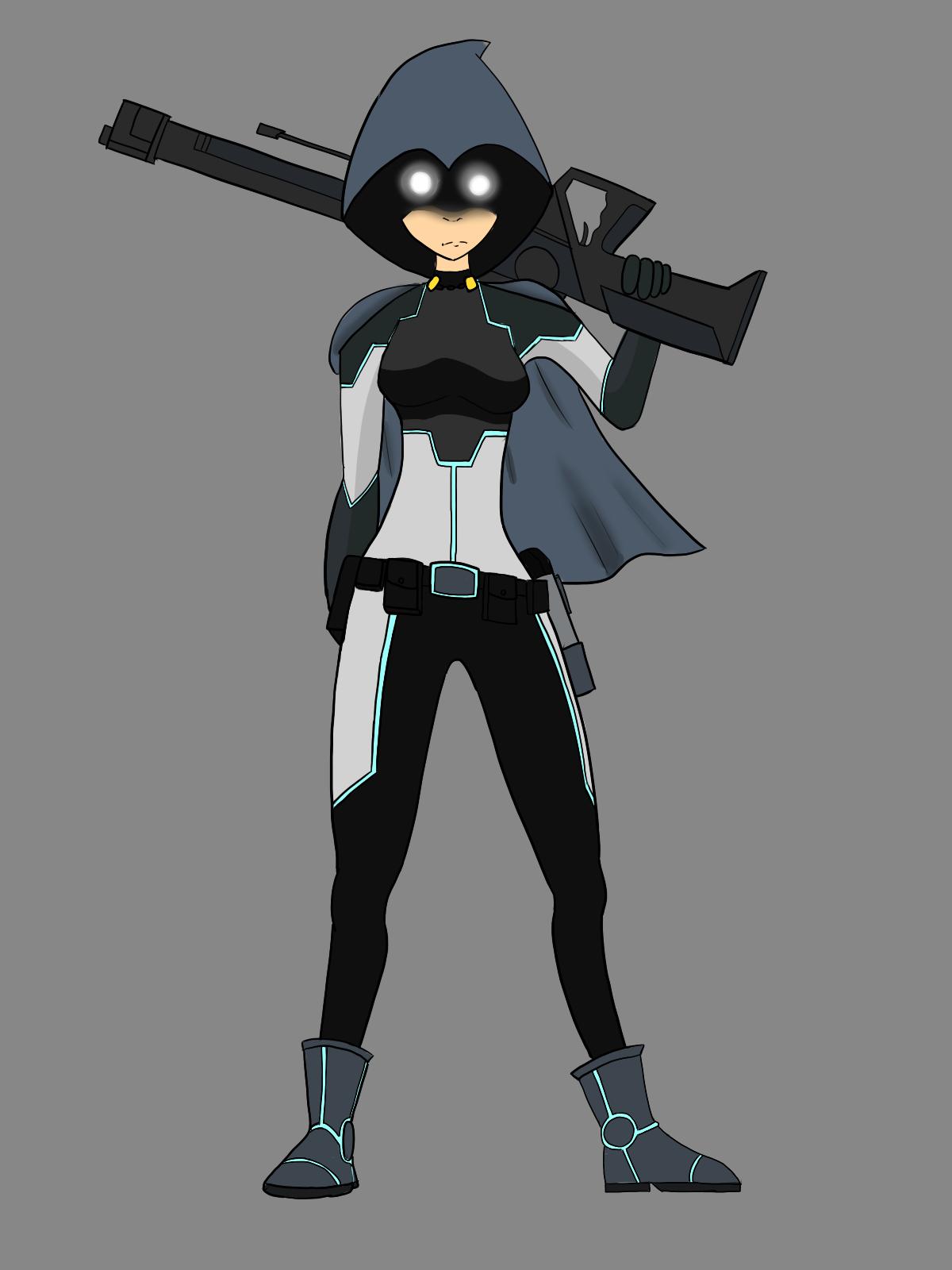 Sci-fi Sniper Girl