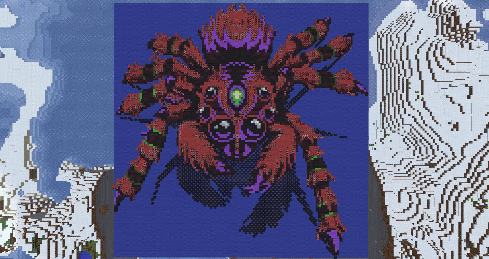 MineCraft Spider Pixel Art