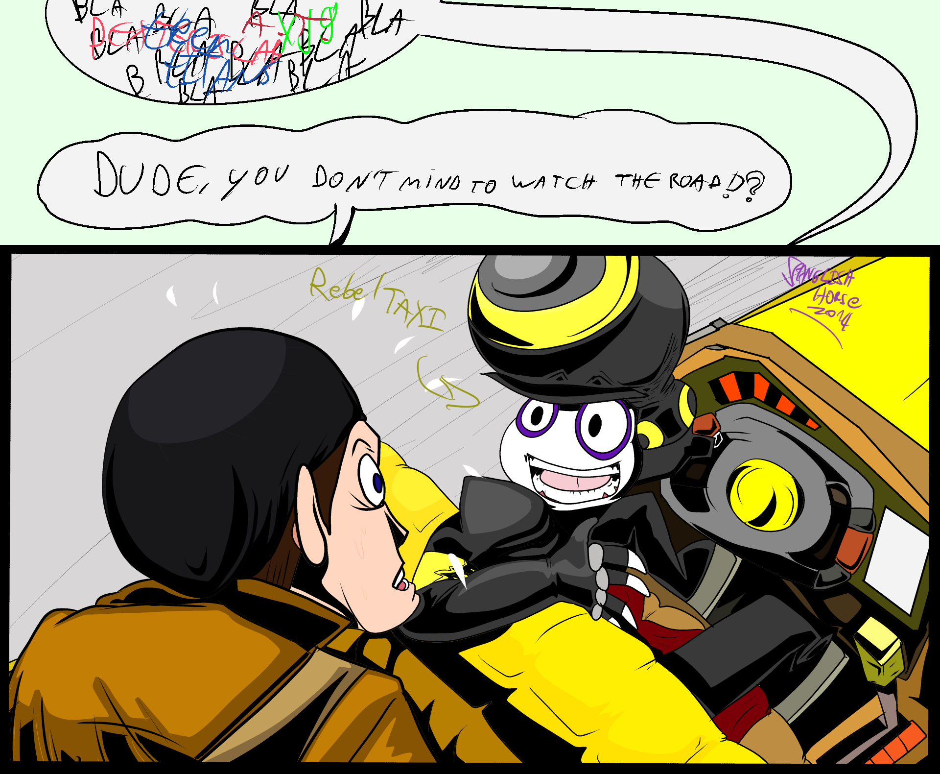 Rebeltaxi pan pizza in a cab 2