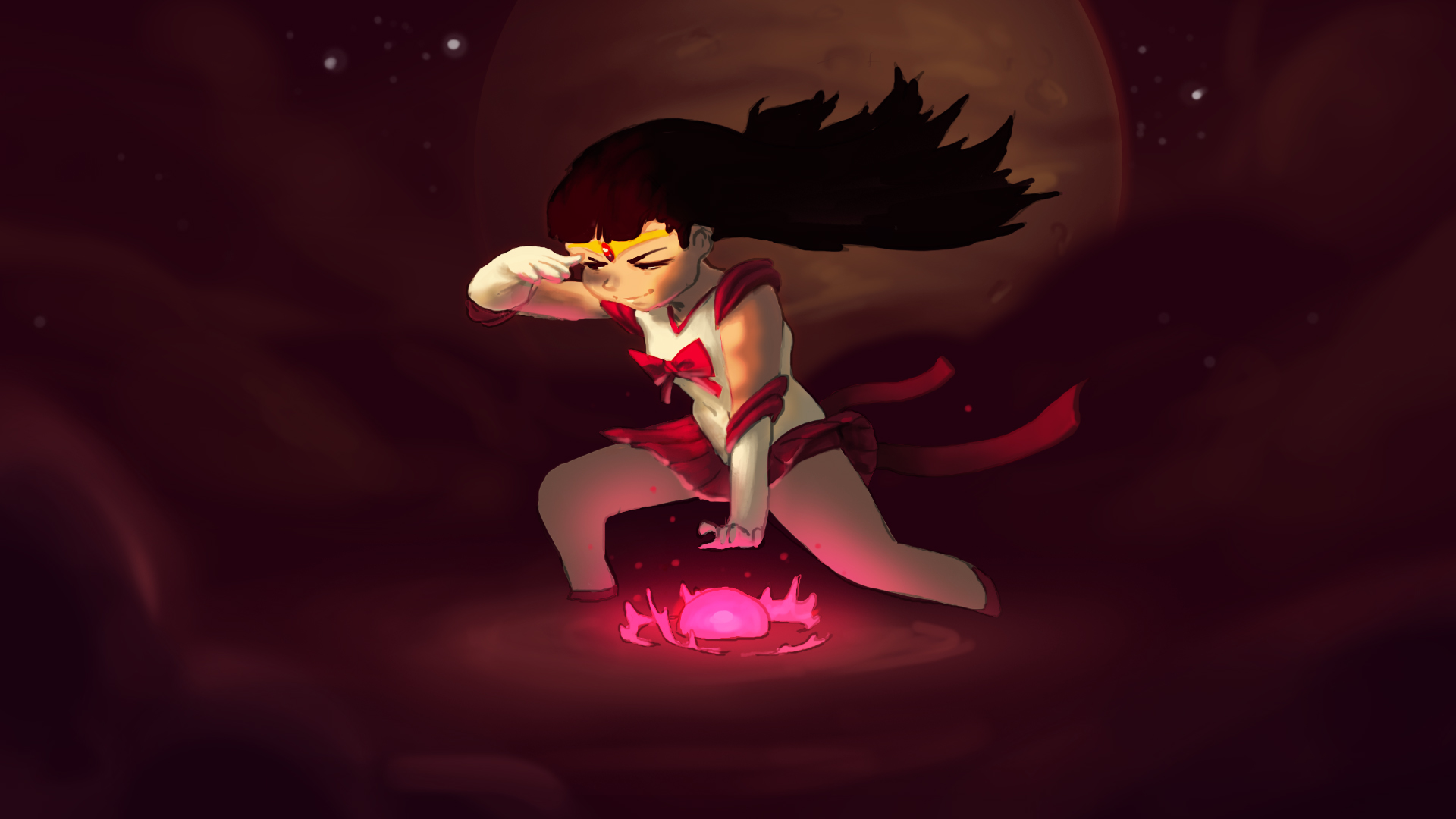 Sailor Mars doin' her thing