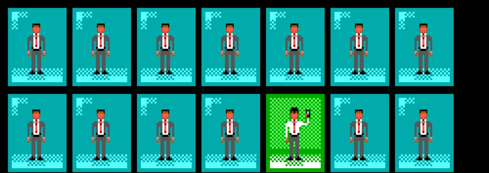Pixel office people