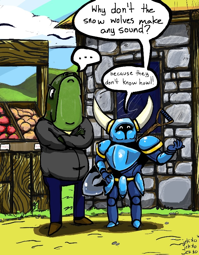Shovel Knight and Grumpy Toad