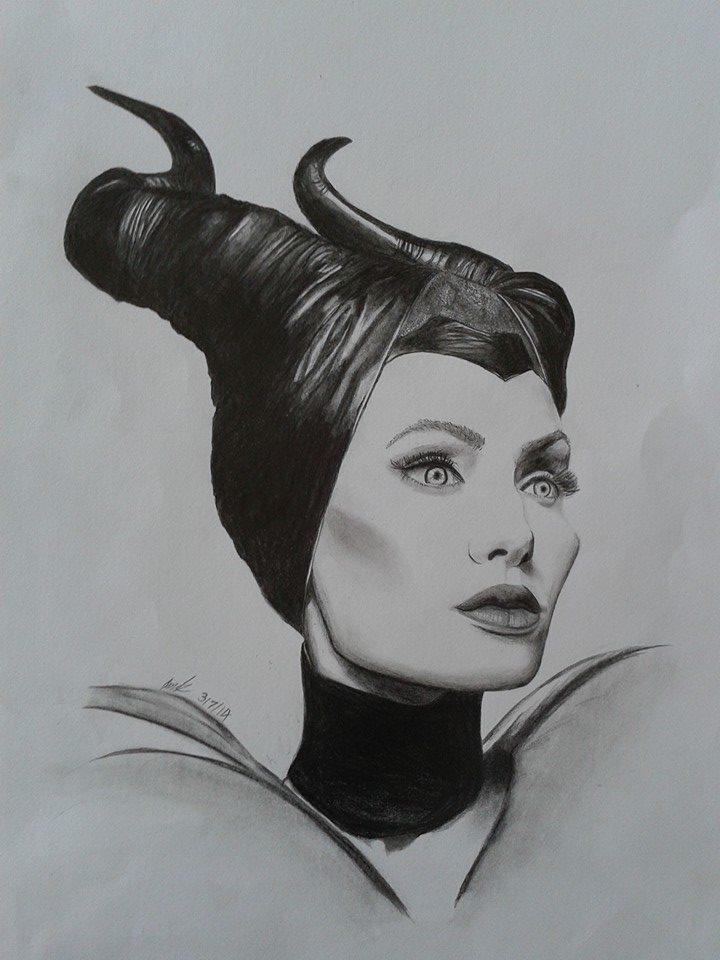 Maleficent Pencil Potrait
