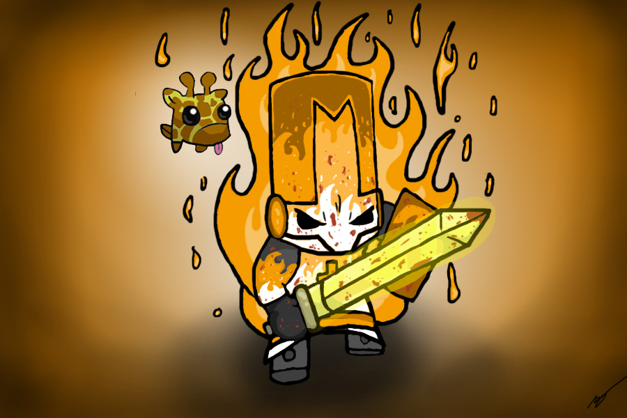 The Orange Knight of Fire