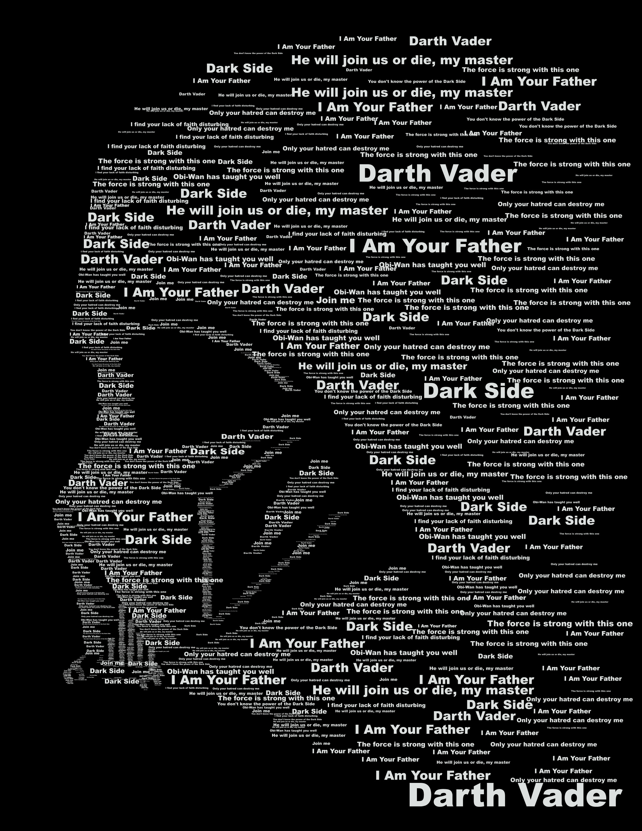 Darth Vader Typography