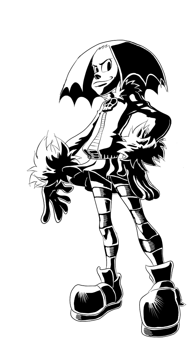 Amber Ella in Black and White
