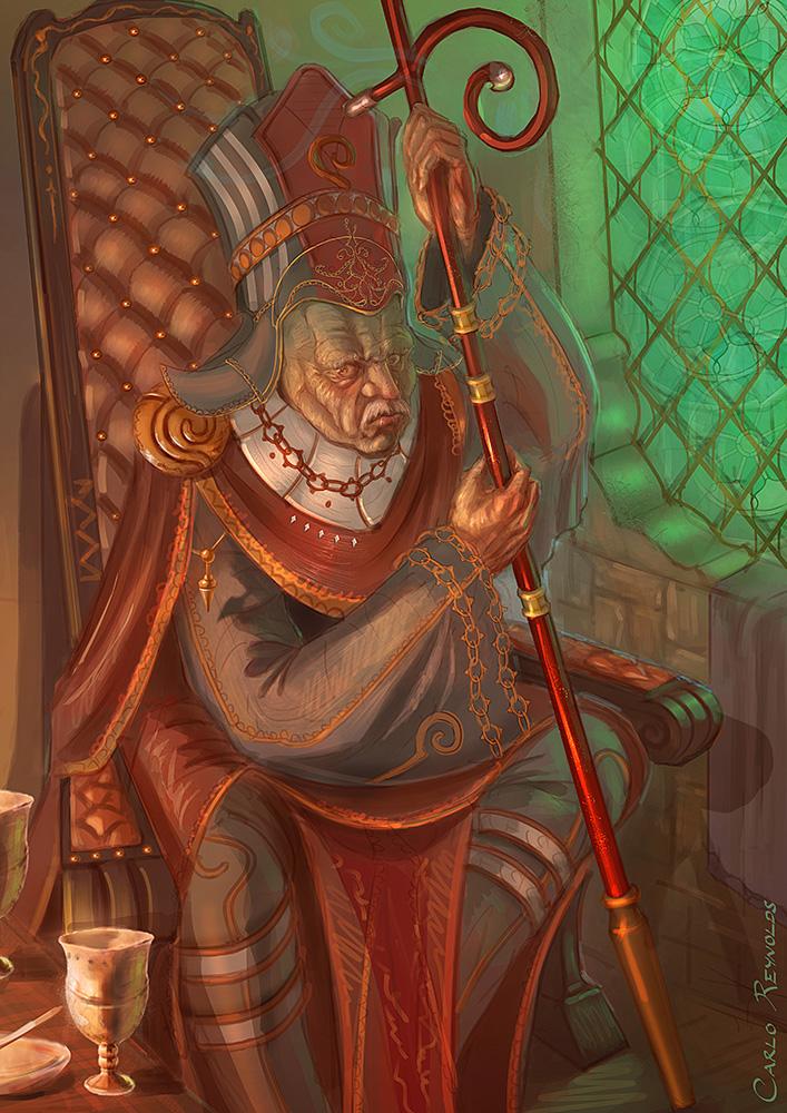 Grumpy Priest