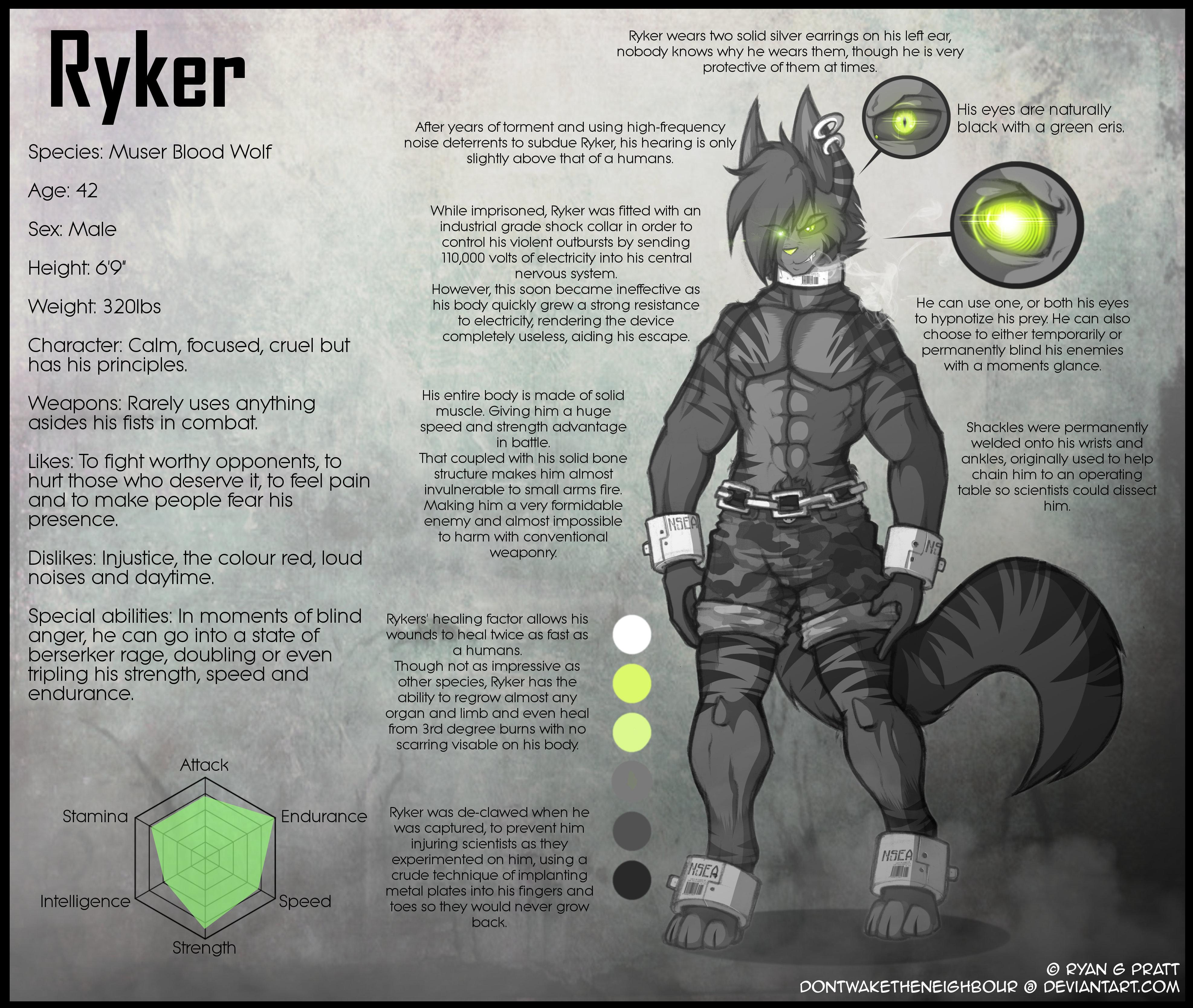 Ryker (Persona) Ref sheet
