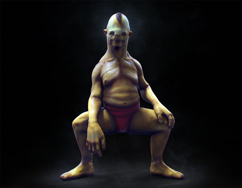Yellow Sumo creature