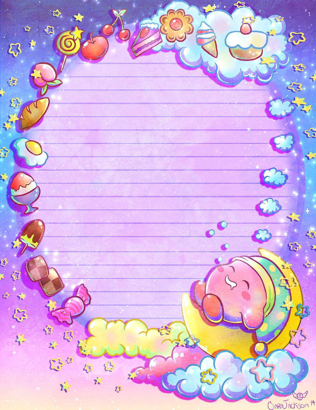 Sweet Dreams Kirby NotePaper