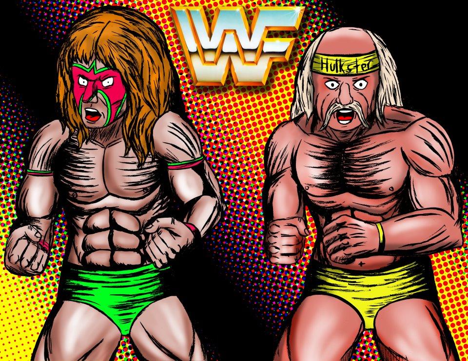 Wrestlemanics Illustrations