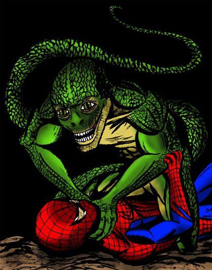 Movie Spiderman v Lizard color