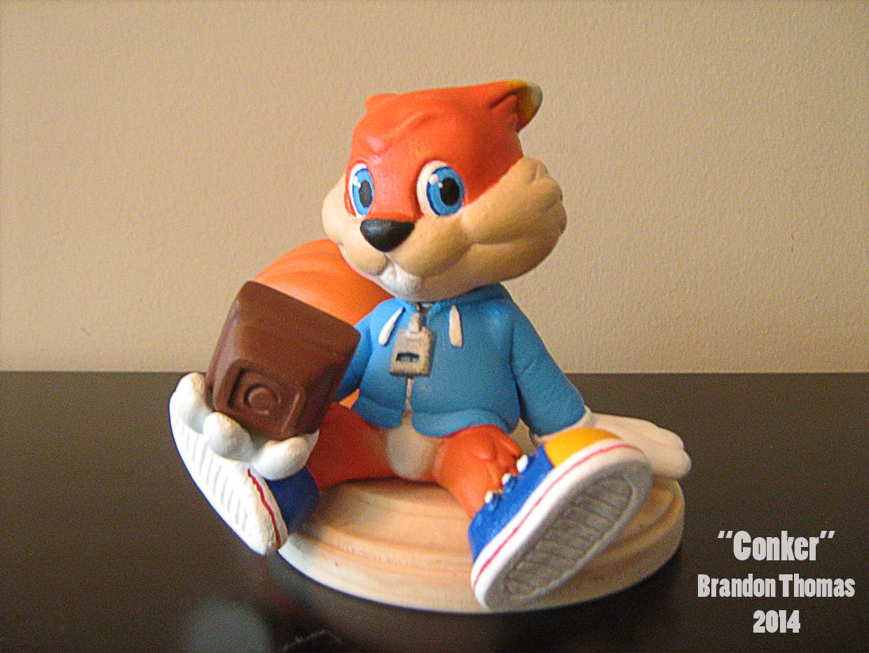 Conker the Squirrel Sculpture