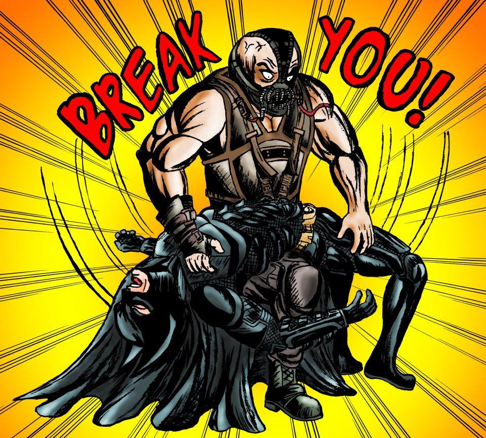 Movie Bane Breaks Batman color