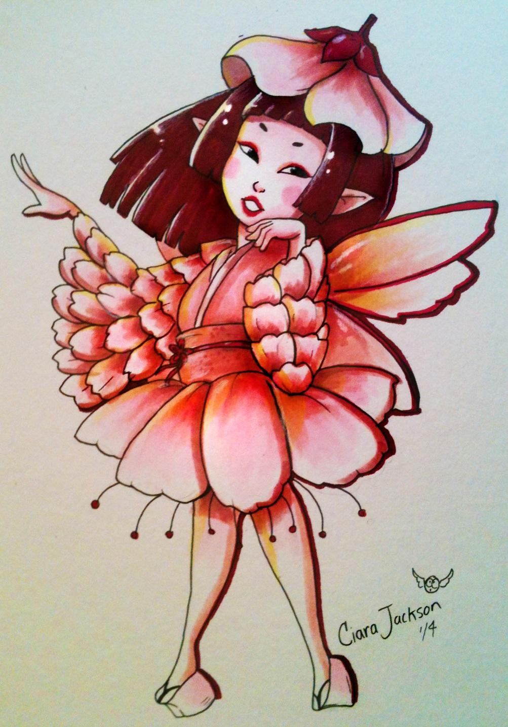 Cherry Blossom Faerie