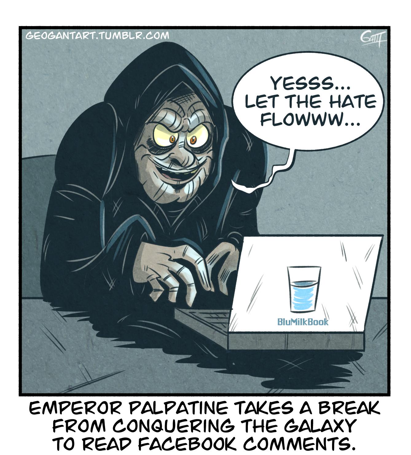 Palpatine Checks Facebook