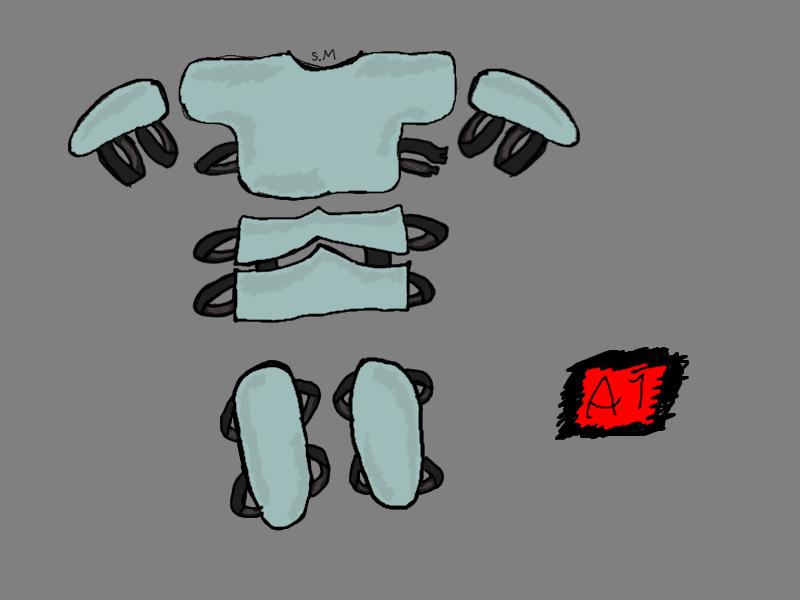 Armor, light blue