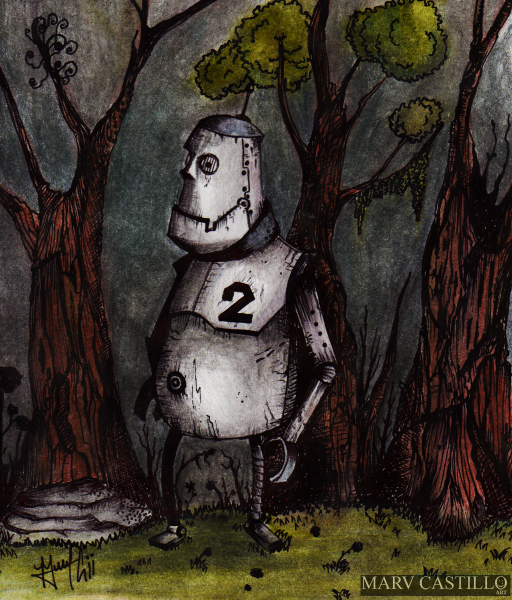 A Robot, Lost in the Woods
